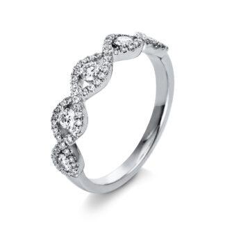 18 kt fehérarany több köves gyűrű 75 gyémánttal 1R798W853-1