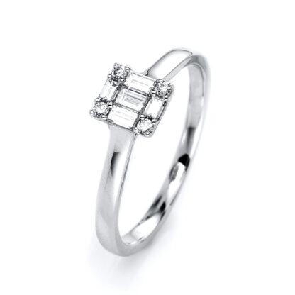 18 kt fehérarany több köves gyűrű 9 gyémánttal 1I101W854-1