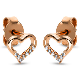 18 kt red gold studs with 14 diamonds 2I875R8-2