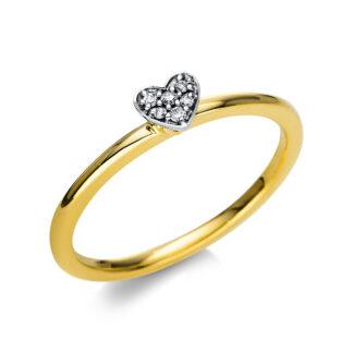 18 kt V arany / fehérarany illúzió 6 gyémánttal 1T805GW854-2