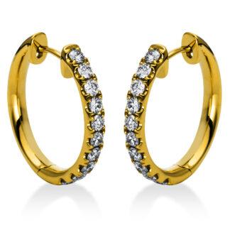 18 kt sárga arany karika és huggie 20 gyémánttal 2A385G8-2