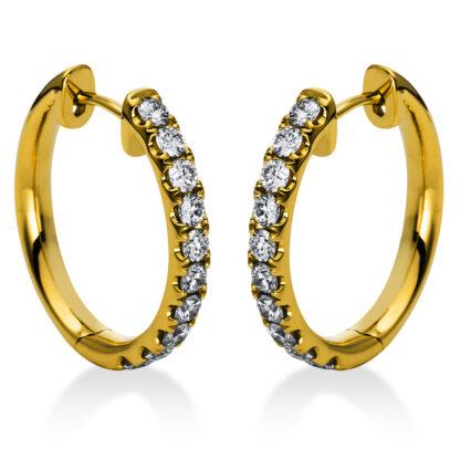 18 kt V arany karika és huggie 20 gyémánttal 2A385G8-2