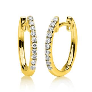 18 kt sárga arany karika és huggie 20 gyémánttal 2A388G8-4