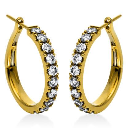 18 kt sárga arany karika és huggie 20 gyémánttal 2H991G8-1