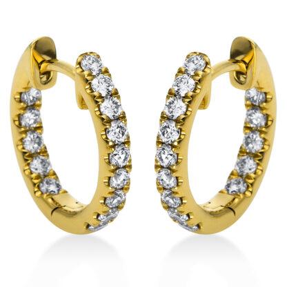18 kt V arany karika és huggie 28 gyémánttal 2C204G8-2