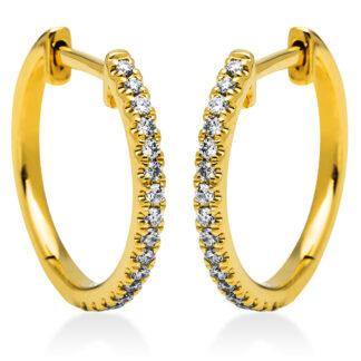 18 kt V arany karika és huggie 34 gyémánttal 2I833G8-1