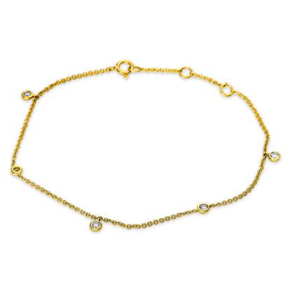 18 kt V arany karkötő 5 gyémánttal 5B498G8-1
