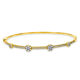 18 kt sárga arany karperec 61 gyémánttal 6A580G8-1