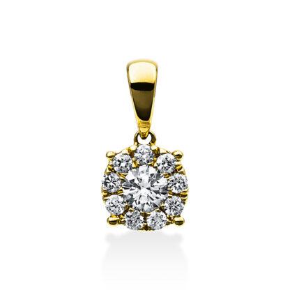 18 kt sárga arany medál 10 gyémánttal 3C564G8-2