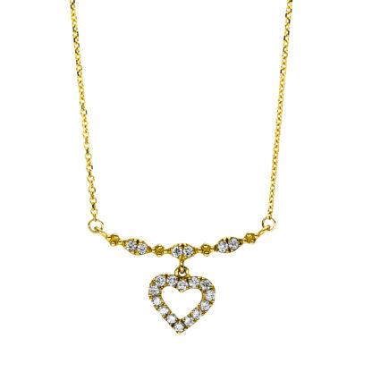 18 kt sárga arany nyaklánc 20 gyémánttal 4F506G8-1