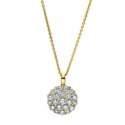 18 kt V arany nyaklánc 22 gyémánttal 4F466G8-1