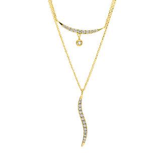 18 kt V arany nyaklánc 26 gyémánttal 4F507G8-1