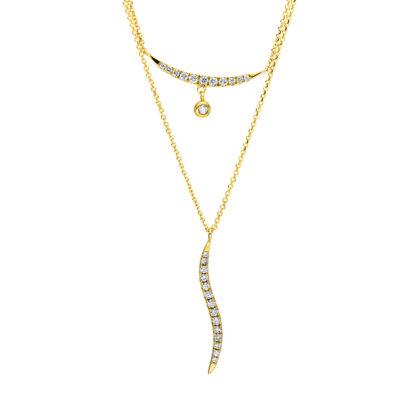 18 kt sárga arany nyaklánc 26 gyémánttal 4F507G8-1