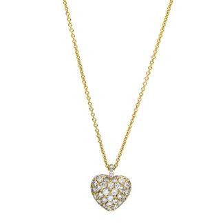 18 kt V arany nyaklánc 52 gyémánttal 4F230G8-1