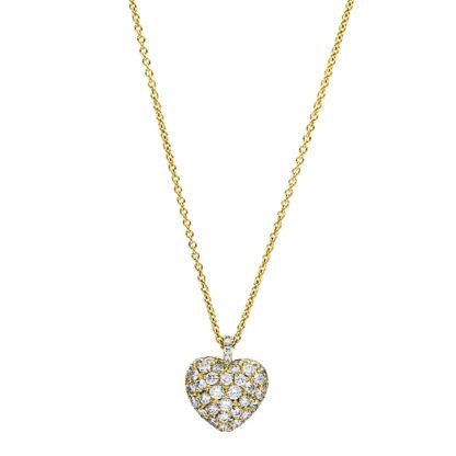 18 kt sárga arany nyaklánc 52 gyémánttal 4F230G8-1