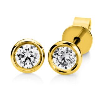 18 kt sárga arany steckeres 2 gyémánttal 2A550G8-1