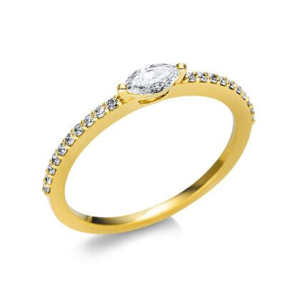 18 kt sárga arany szoliter oldalkövekkel 21 gyémánttal 1U614G854-2