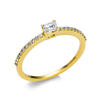 18 kt sárga arany szoliter oldalkövekkel 21 gyémánttal 1U619G854-7