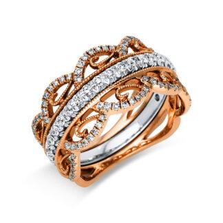 18 kt  több köves gyűrű 107 gyémánttal 1S982WR854-1