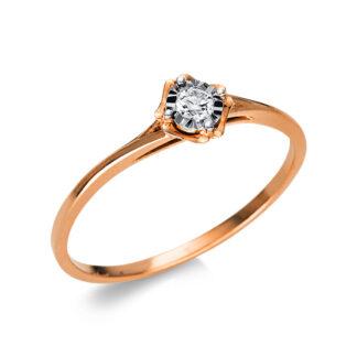 18 kt vörös arany / fehérarany szoliter 1 gyémánttal 1R238RW854-1