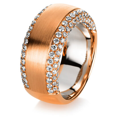 18 kt vörös arany / fehérarany több köves gyűrű 172 gyémánttal 1C406RW856-1