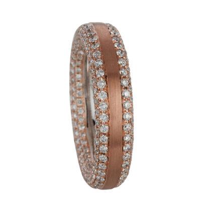18 kt vörös arany / fehérarany több köves gyűrű 368 gyémánttal 1C402RW856-1