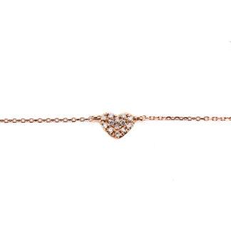 18 kt vörös arany karkötő 13 gyémánttal 5A219R8-1