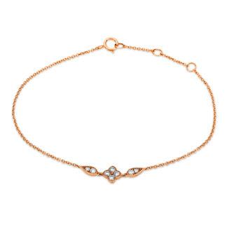 18 kt vörös arany karkötő 8 gyémánttal 5B894R8-1