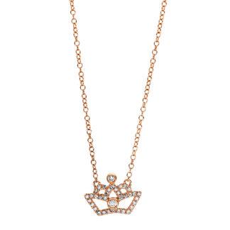 18 kt vörös arany nyaklánc 38 gyémánttal 4F454R8-1