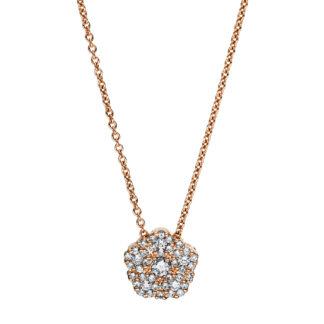 18 kt vörös arany nyaklánc 41 gyémánttal 4F459R8-1