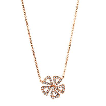 18 kt vörös arany nyaklánc 48 gyémánttal 4F541R8-1