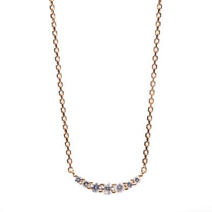 18 kt vörös arany nyaklánc 7 gyémánttal 4B155R8-3