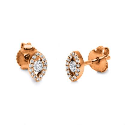 18 kt vörös arany steckeres 30 gyémánttal 2G237R8-1
