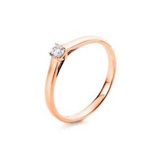 18 kt vörös arany szoliter 1 gyémánttal 1A440R855-1