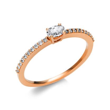 18 kt vörös arany szoliter oldalkövekkel 21 gyémánttal 1U622R854-4