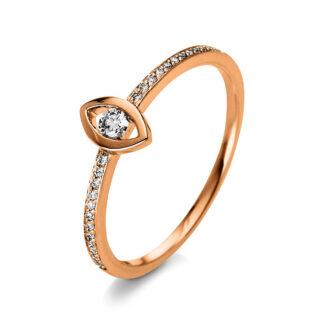 18 kt vörös arany több köves gyűrű 15 gyémánttal 1Q384R855-2