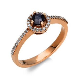 18 kt vörös arany több köves gyűrű 39 gyémánttal 1T794R852-1