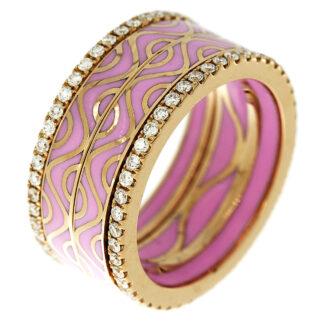 18 kt vörös arany több köves gyűrű 94 gyémánttal 1C768R856-1