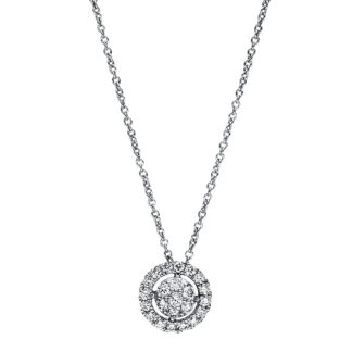 18 kt white gold necklace with 23 diamonds 4F350W8-2