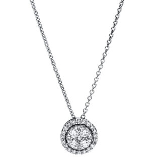 18 kt white gold necklace with 29 diamonds 4F352W8-3