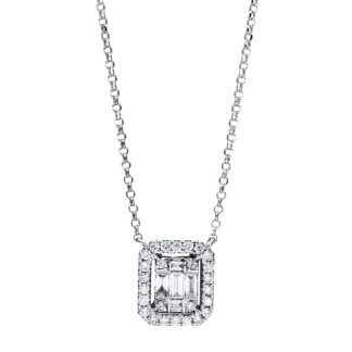 18 kt white gold necklace with 31 diamonds 4F335W8-1