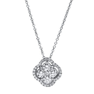 18 kt white gold necklace with 33 diamonds 4F355W8-1
