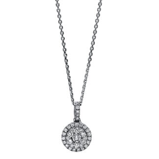 18 kt white gold necklace with 37 diamonds 4F121W8-1