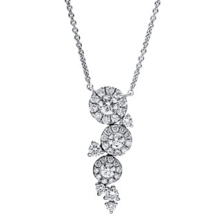 18 kt white gold necklace with 37 diamonds 4F363W8-1