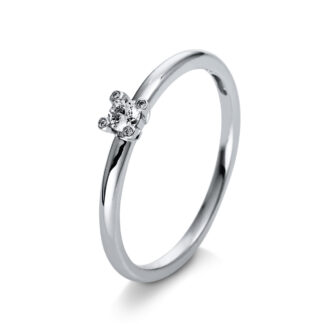 18 kt white gold solitaire with 5 diamonds 1Q396W855-2