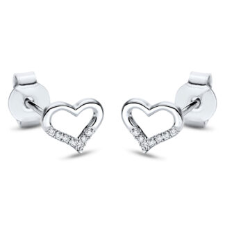 18 kt white gold studs with 14 diamonds 2I875W8-1