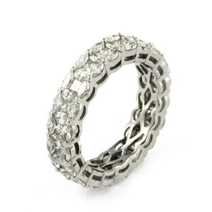 White gold ring with diamonds 43580 01