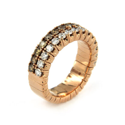 Rosé gold ring with diamonds 43589 01