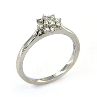 White gold ring with diamonds O6-43607 01