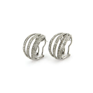 White gold earrings with diamonds 43626 01